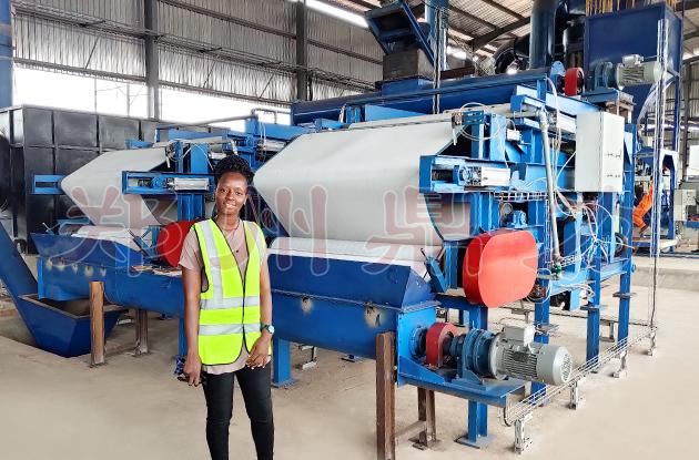 尼日利亚啤酒糟脱水机项目